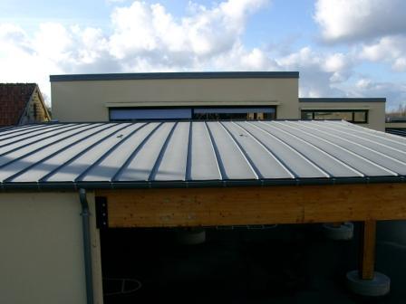 Couverture bac acier joint debout